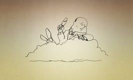 Cartoon funny man Royalty Free Stock Photo