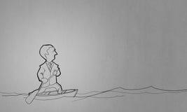 Cartoon funny man vector illustration
