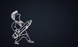 Cartoon funny man Stock Image