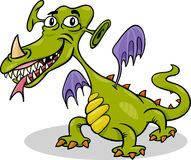 Cartoon funny monster or dragon illustration Stock Photos