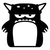 Cartoon Funny Monster Icon Character Isolated Stock Image