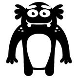 Cartoon Funny Monster Icon Character Isolated Stock Photo