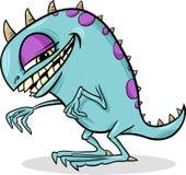 Cartoon funny monster illustration royalty free illustration