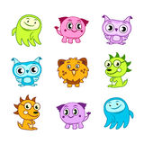 Cartoon funny monster kids Stock Photos