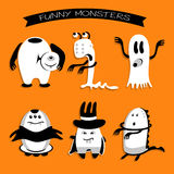 Cartoon funny monsters for Halloween holiday Stock Images