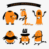 Cartoon funny monsters for Halloween holiday Stock Photography