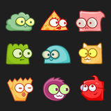 Cartoon funny monsters set Royalty Free Stock Images