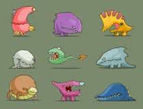 Cartoon funny monsters set Stock Photo