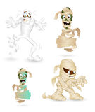 Cartoon Funny Mummy Characters Royalty Free Stock Images