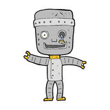 Cartoon funny old robot Stock Photography