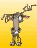 Cartoon funny old shabby elk Royalty Free Stock Photos