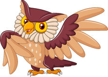 Cartoon funny owl bird posing Royalty Free Stock Photography
