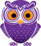 Cartoon funny owl Stock Image
