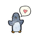 Cartoon funny penguin Stock Photo