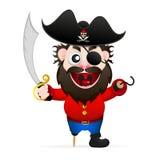 Cartoon funny pirate Royalty Free Stock Photos