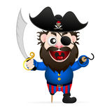 Cartoon funny pirate Royalty Free Stock Images