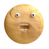 Cartoon funny planet plasticine or clay. Stock Images