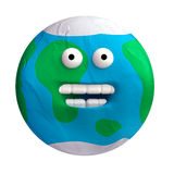 Cartoon funny planet plasticine or clay. Royalty Free Stock Images