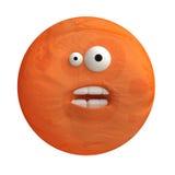 Cartoon funny planet plasticine or clay. Stock Photos