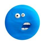 Cartoon funny planet plasticine or clay. Royalty Free Stock Photos