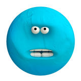 Cartoon funny planet plasticine or clay. Royalty Free Stock Photo
