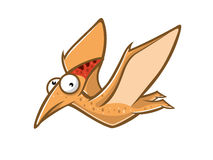 Cartoon Funny Pteranodon Royalty Free Stock Images