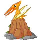 Cartoon funny pterodactyl Royalty Free Stock Photo