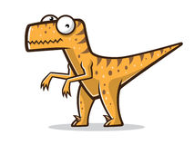Cartoon Funny Raptor Royalty Free Stock Photo