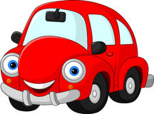 Cartoon funny red car royalty free illustration