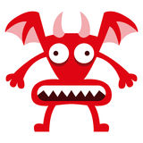Cartoon Funny Red Demon Character Isolated Royalty Free Stock Photos