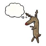Cartoon funny reindeer Stock Photos