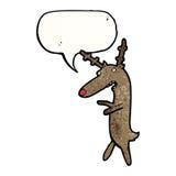 Cartoon funny reindeer Royalty Free Stock Images