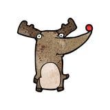 Cartoon funny reindeer Stock Images