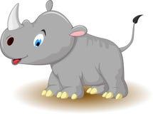Cartoon funny rhino posing Stock Photo
