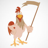 Cartoon funny rooster Stock Photo