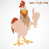 Cartoon funny rooster Royalty Free Stock Photos