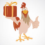 Cartoon funny rooster Stock Image
