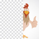 Cartoon funny rooster Stock Images