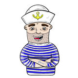 Cartoon funny sailor. vector. stock images
