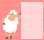 Cartoon funny sheep Royalty Free Stock Images