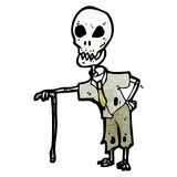 cartoon funny skeleton Royalty Free Stock Images