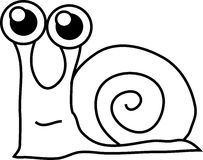 Cartoon funny snail Royalty Free Stock Photos