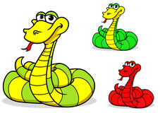 Cartoon funny snake Royalty Free Stock Photo