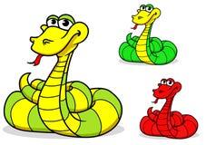 Cartoon funny snake Royalty Free Stock Photo