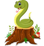 Cartoon funny snake Stock Images
