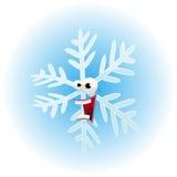Cartoon Funny Snowflake Character Stock Photos