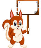 Cartoon funny squirrel Royalty Free Stock Photography