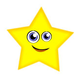 Cartoon funny star. Vector illustration of happy star stock illustration