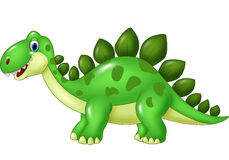 Cartoon funny Stegosaurus mascot isolated on white background Stock Image