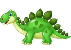 Cartoon funny Stegosaurus mascot isolated on white background Stock Image